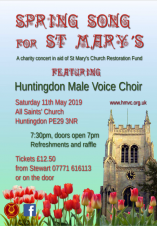 Huntingdon Male Voice Choir | Spring Song for St Mary's