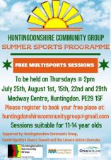 Huntingdonshire Community Group | Summer Sports Programme