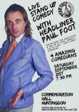 Commemoration Hall| Live Stand up Comedy with Paul Foot