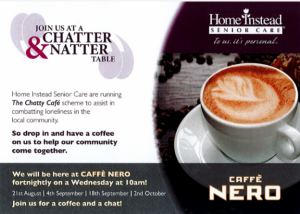 Chatter & Natter Table at Cafe Nero