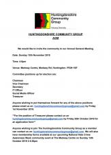 Huntingdonshire Community Group AGM