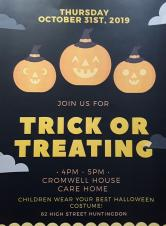 Cromwell House Care Home Trick or Treating!