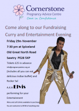 Cornerstone Care in Confidence | Fundraising Curry and Elvis Evening